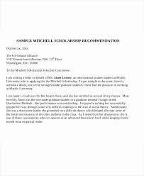 Scholarship Recommendation Letter Sample Recommendation Letter Format For Scholarship Elegant 41