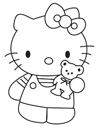 Small Picture Hello Kitty Showing Teddy Bear Coloring Page H M Coloring Pages