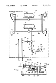 patent us5199732 apparatus for unlocking a bogie on a tractor patent drawing