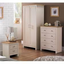 Lancaster Bedroom Furniture Brand New 3 Piece Lancaster Bedroom Set Cream With Oak Effect Tops