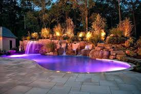 pool waterfall lighting. Pool Waterfall Lights Ideas Combined With Exotic Lighting Features Small .