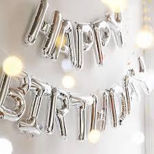 TRISHRA <b>Happy Birthday</b> Alphabets Letter Foil <b>Balloon</b> (Silver – <b>13</b> ...