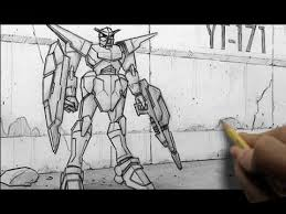 how to draw mecha gundam like characters