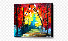 landscape painting art canvas print watercolor painting autumn poster