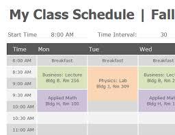 Class Schedule Excel Template Download Class Schedule Template Word Printable Schedule Template