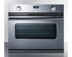 stainless steel gas single wall oven