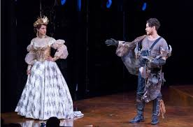 the taming of the shrew shakespeare theatre company whisk quill maulik pancholy as katherina and peter gadiot as petruchio in shakespeare theatre company s production of the