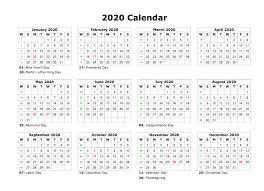 2020 calendar free template printable 2020 calendar free blank templates calendar