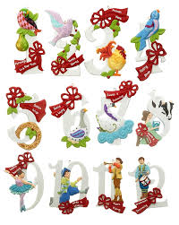 ... Fine Design 12 Days Of Christmas Decorations Set Personalized Ornament  ...