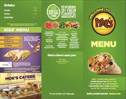 Moe Southwest Grill Calorie Chart Moes Menu Hat Six Travel Plaza