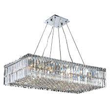 rectangle crystal chandelier modern linear rectangular island dining room welles clear toronto