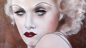 drawing jean harlow with makeup