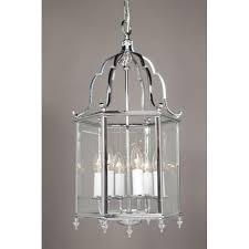 belgravia traditional chrome hall lantern large