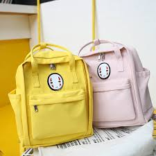 MENGXILU Chinese Face <b>Canvas</b> Women Backpack for Teenage ...