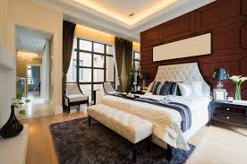 beautiful painted master bedrooms. Luxurious Master Bedroom With Wood Paneled Wall, All-white Bed, Light Floor Beautiful Painted Bedrooms E