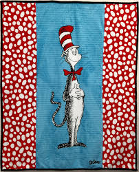 The Cat in the Hat Cuddle Quilt Kit &  Adamdwight.com