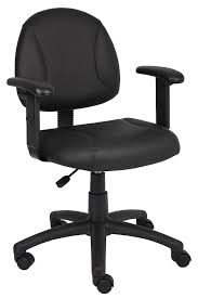 Office Chair With Adjustable Arms Amazoncom Boss Office Products B306 Posture Task Chair With