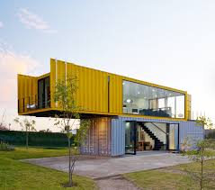 Cargo Box Homes 4 Shipping Containers Prefab Plus 1 For Guests Remote House And