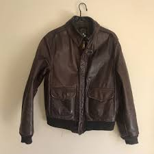 details about er flight jacket avirex brown leather type a 2 pin up aviator made in usa