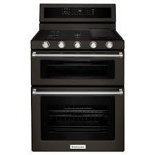 kitchenaid double oven gas range 6 0