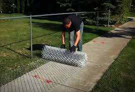chain link fence installation. Brilliant Chain Unroll Mesh Tension Bar  Install Chain Link Fence Intended Installation S
