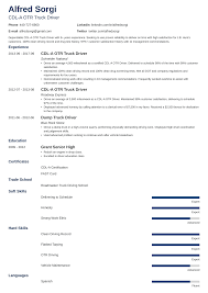 Good Judgement Examples Truck Driver Resume Sample And Complete Guide 20 Examples