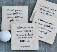 Golf Quotes Awesome Set Of Four Ceramic Famous Golf Quotes Coasters By Me And My Sport