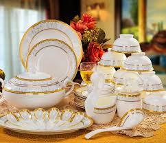 Patterned Dinnerware Enchanting Vilo Golden Cornfield Patterned Bone China 48 Piece Dinnerware Set