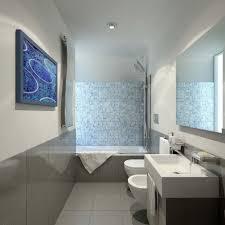 Kleine Badezimmer Planen Blauen Mosaik Fliesen Dusche Backsplash