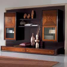 Living Room Wall Unit Contemporary Living Room Wall Unit Lacquered Wood Four Seasons