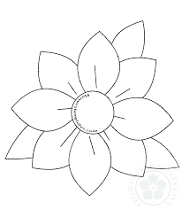 Paper Flower Template Free Flowers Templates Free Shapes Pattern And Crafts For Gerbera Daisy