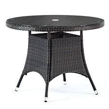 round wicker coffee table with glass top rattan diameter patio wicker dining room table with glass top round