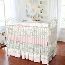 pink over the moon toile crib bedding traditional kids