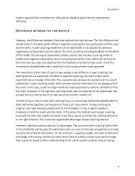 coaching model essay it is the 4