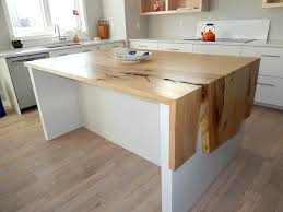 wood accented waterfall countertops rempel s elm waterfall countertop via woodanchor com