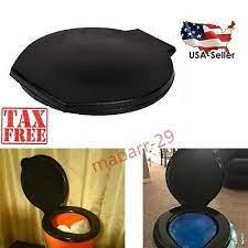 emergency ready portable snap on toilet