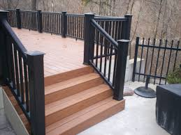 pre made outdoor deck steps. composite decking lowes | vinyl railings deck railing pre made outdoor steps p
