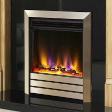 celsi electriflame vr parrilla electric fire silver or champagne