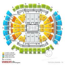 United Center Seating Chart With Seat Numbers Toyota Center Seating Map Kissgolf Co