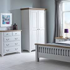 Painted Bedroom Hutchar Buxton Light Grey Painted Bedroom Set With Triple Wardrobe
