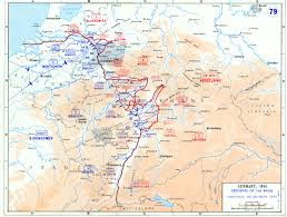 map of the allies cross the rhine river (march )