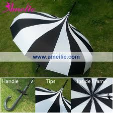 black and white striped umbrella.  Black Free Shipping Pagoda Umbrella Victorian Wedding Straight With Black  And White Stripe Colors10pcslotin Bridal Umbrellas From Weddings U0026 Events On  In And Striped Umbrella V