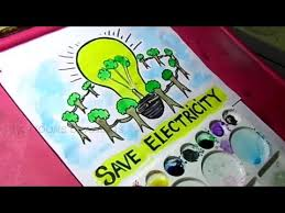 Save Electricity Chart How To Draw Save Electricity Save Energy Poster Drawing