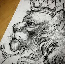 эскизы тату львов значение татуировки со львом
