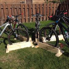 diy self supporting bicycle stand for mountain bikes