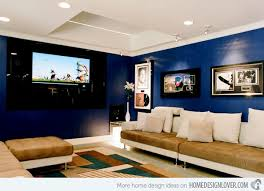 40 Lovely Living Room Designs With Blue Accents Home Design Lover Custom Blue Living Rooms Interior Design