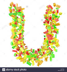 the letter u is made up of childrens blocks GM27GM