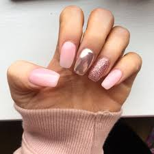 Pink Glitter And Chrome Nails Nehty Uñas Rosadas Uñas