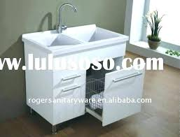 Small Utility Sink With Cabinet Storage Laundry    Room C34