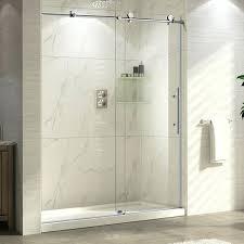 trident x single sliding shower door frameless s wet republic